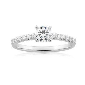 2.25 ct Solitaire with accent round cut diamonds w